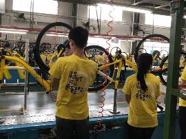 探访ofo飞鸽工厂:15秒生产一辆ofo 价格约700元