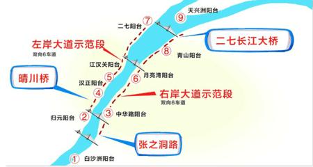 长江主轴左右岸大道示范段开工 预计2019年建成