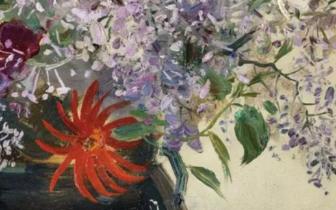 北京保利春拍推介吴冠中罕见60年创作《花卉》