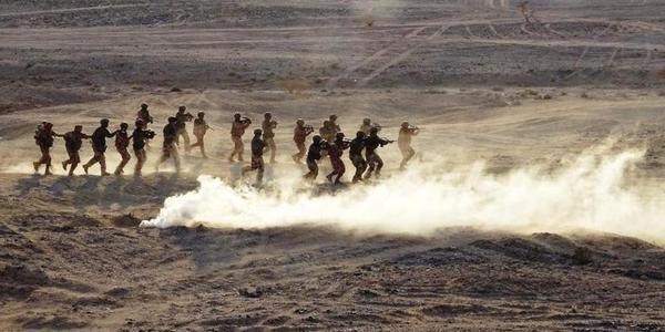 法军非洲军演 看起来相当悠闲