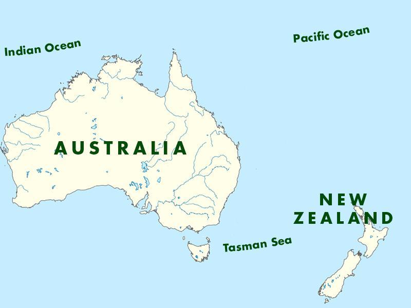 新西兰与澳大利亚距离不远