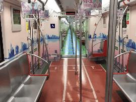 """""""水上漂""""""""道上跑""""――学生运动会地铁专列给你不一样的体验"""