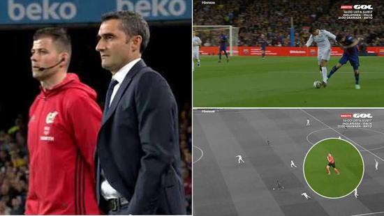 助手大喊苏牙犯规,主裁就是不吹!目送梅西进球