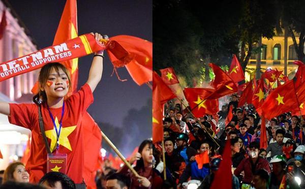 万人空巷!越南民众举国旗游行 庆祝球队晋级