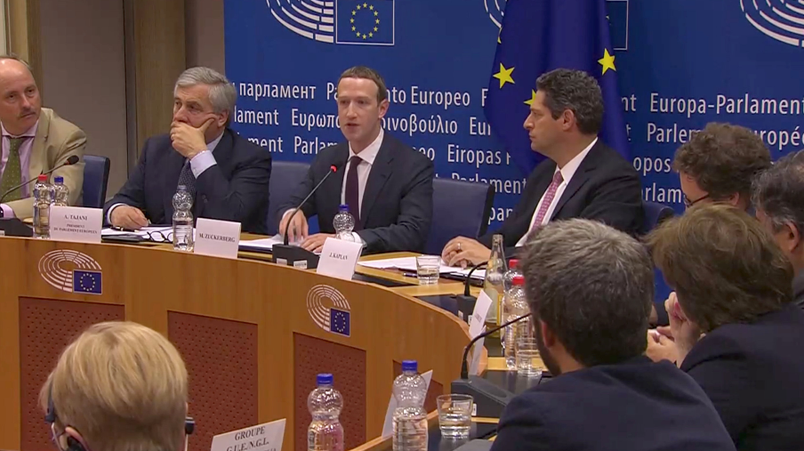 扎克伯格出席欧洲听证会 很多问题避而
