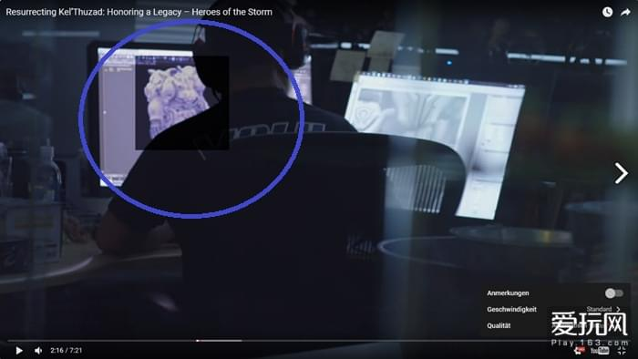 视频中开发人员正在制作的角色形象很接近火蝠