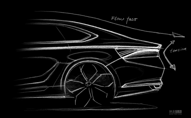 基于CMA平台打造 吉利K车型设计草图曝光