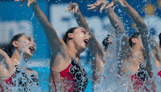 世锦赛花游集体自由组合预赛 俄缺席中国第1晋级