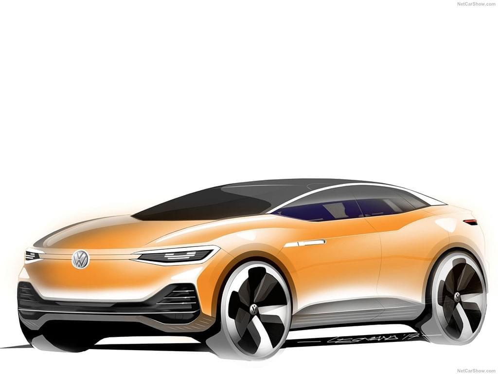 目前还是图纸 曝大众全新轿跑MPV设计图