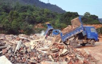到2020年 山西原则上不再新设建筑垃圾填埋场