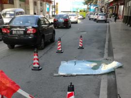 想想都怕!东莞闹市竟有百斤重碎裂玻璃从天而降