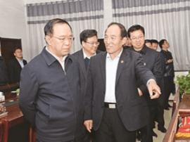 运城市委书记刘志宏在临猗万荣调研果业和三基建设