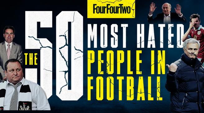 英媒评选50大最招恨的足球人:C罗第6 穆帅第2