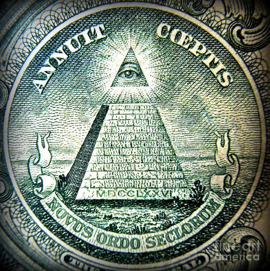 ?美元背后的共济会标志/Wikimedia