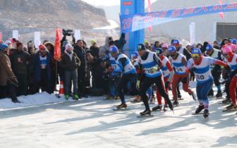 """老牛湾""""全国大众速度滑冰马拉松系列赛""""开赛"""