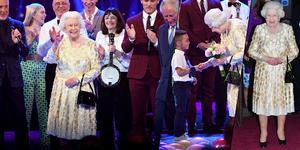 太时髦!英国女王穿亮片长裙庆祝92岁生日