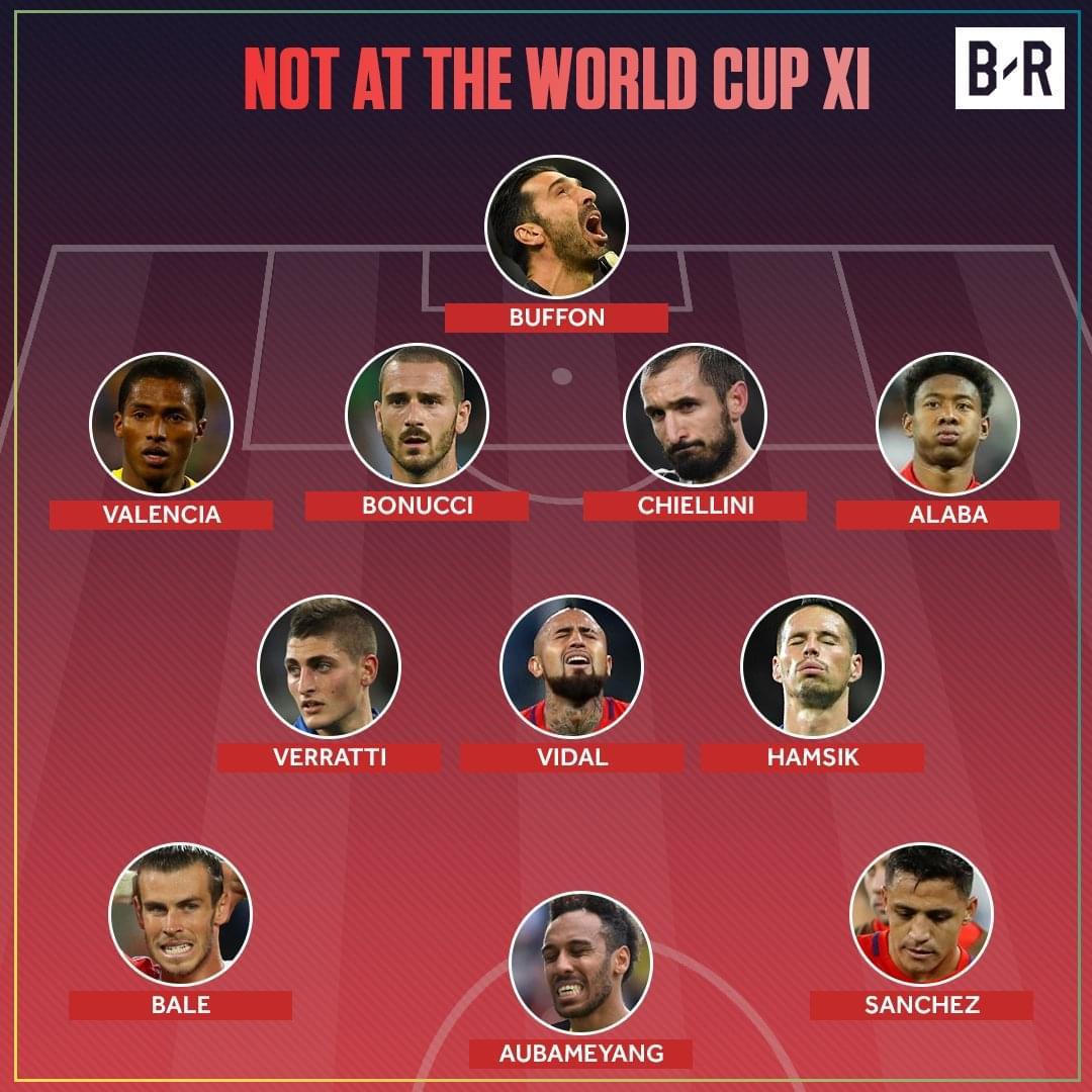 布冯贝尔领衔无缘世界杯最强11人 他们组队能夺冠吗?