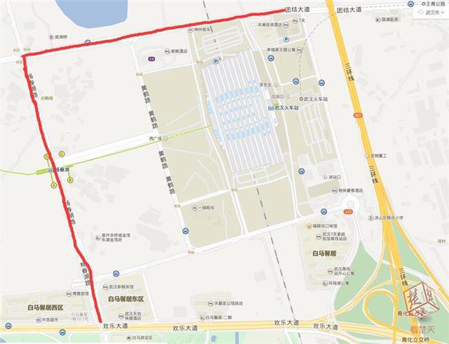 团结大道、杨春湖路道路工程完工 去武汉站更方便