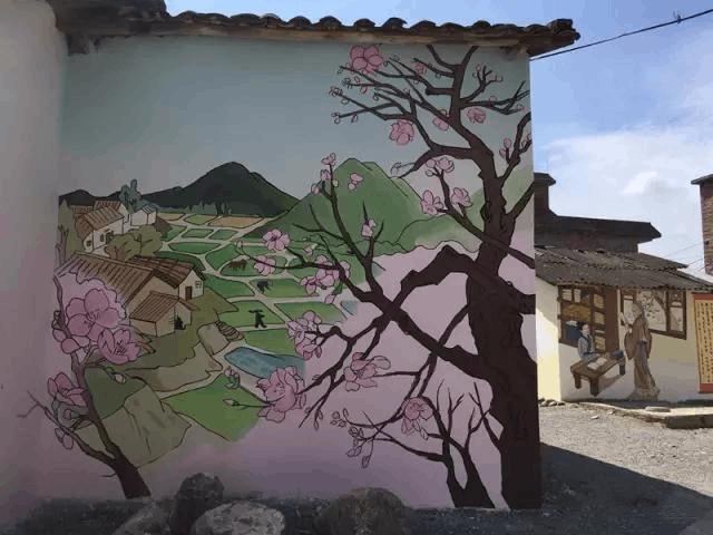 墙上涂鸦不文明?90后竟把韶关村落画成一道风景线