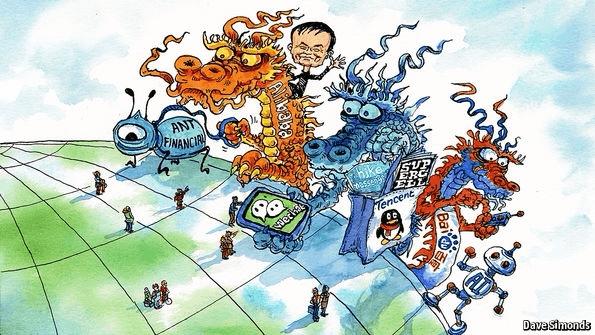 外媒:中国互联网三大巨头正在走向世界