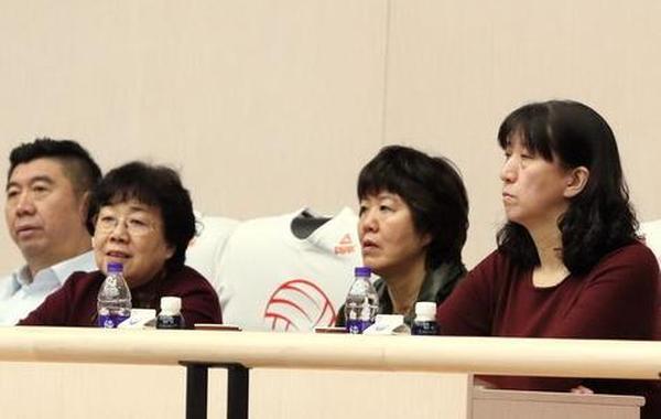郎平现场观战女排总决赛