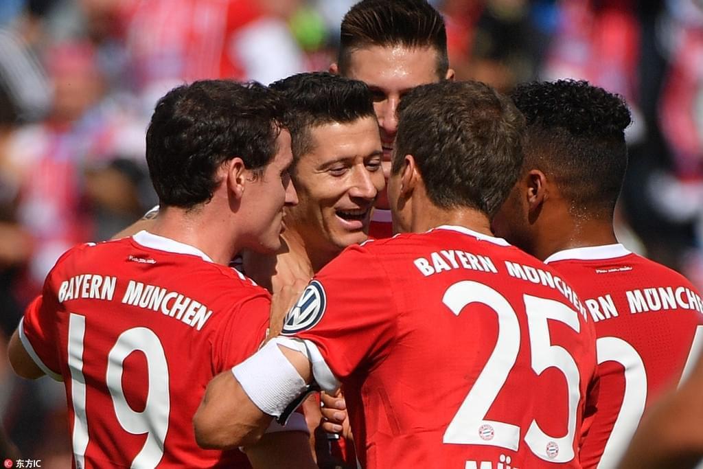 德国杯-莱万双响里贝里传射 拜仁5-0胜弱旅晋级