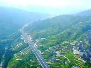 梯田之上的高速已通车 串起桂北最美风光带