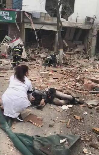 山东淄博一店铺发生爆炸 伤者已送医救治