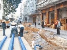 环城南路改造工程加紧施工 争取元旦完工