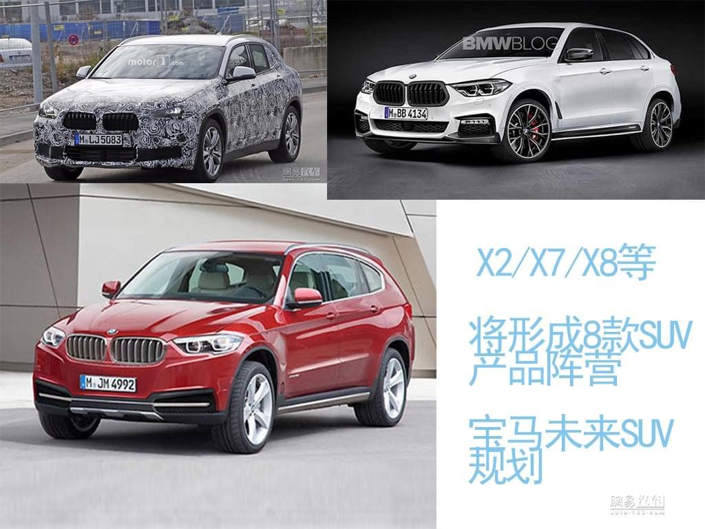 将推出X2/X7/X8 未来宝马SUV产品达8款