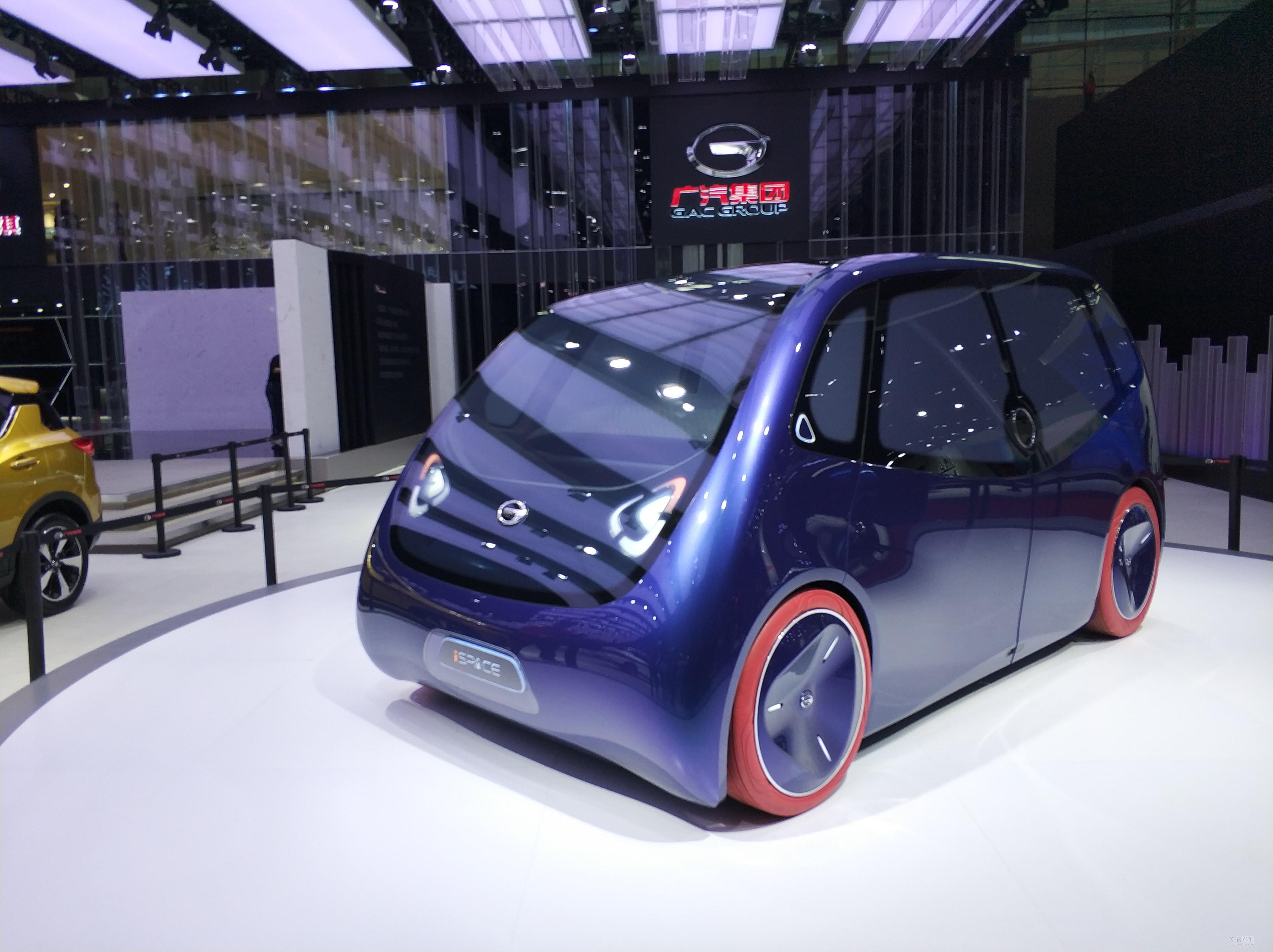 纯电驱动/智联概念车 广汽iSPACE车展亮相