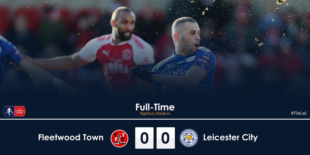 足总杯-莱斯特需重赛 第4级队2-1爆冷淘汰英超队