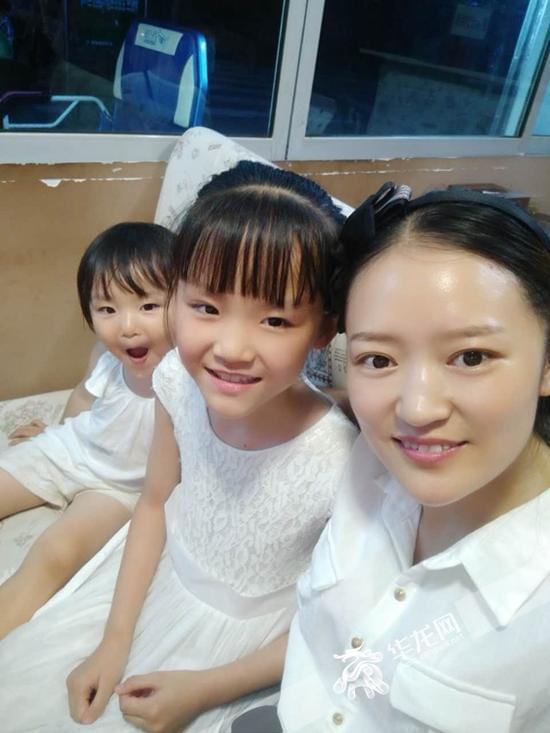 蒋海芹和她的两个孩子