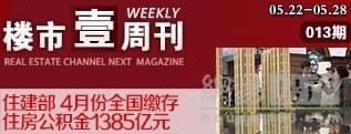 壹周刊13期:住建部 4月份全国缴存住房公积金1385亿元