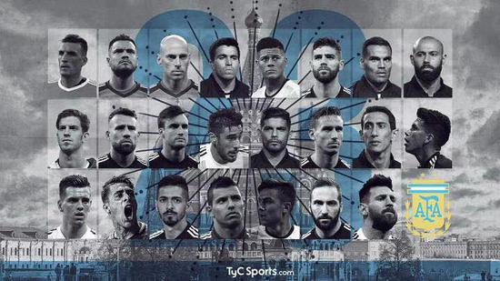 阿根廷世界杯23人:梅西伊瓜因33场29球金靴落选!