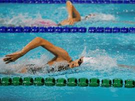 全运会游泳少年组比赛 山西小将庞欣怡摘铜