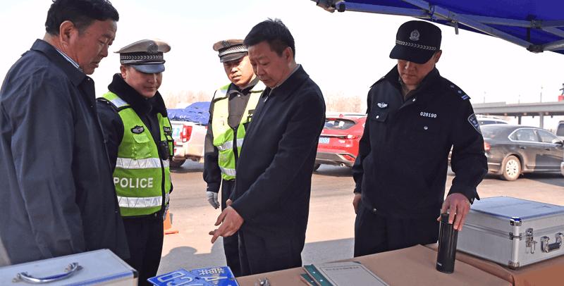 邢台公安局长陈少军深入一线检查指导安保工作