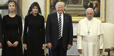 特朗普携妻女会见罗马天主教教皇