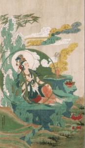 张大千《水月观音》在四川博物院展出