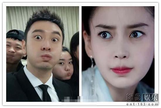 黄晓明晒自拍萌照庆元旦 撞脸老婆相当喜感