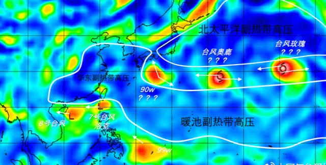 四个台风组团生成  然而一个能打的都没有