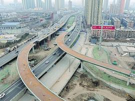 北涧河北中环路段高架基已经建成