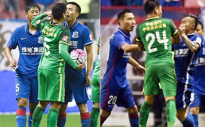 申花0-0国安 双方互喷险酿冲突