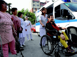 李沧区50岁以上的肢体重症残疾人昨日免费体检