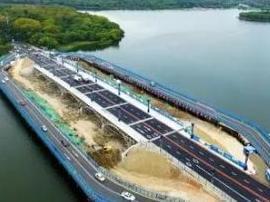 长春新南湖大桥建造全过程