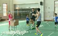 夏练三伏 省残疾人羽毛球队队员挥汗泰州
