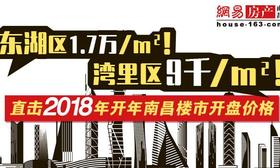 东湖1.7万/㎡!湾里9千/㎡!2018