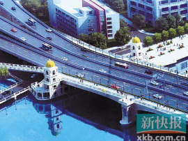 别慌!广州人民桥拆咗旋转楼梯 建观景台和桥头堡