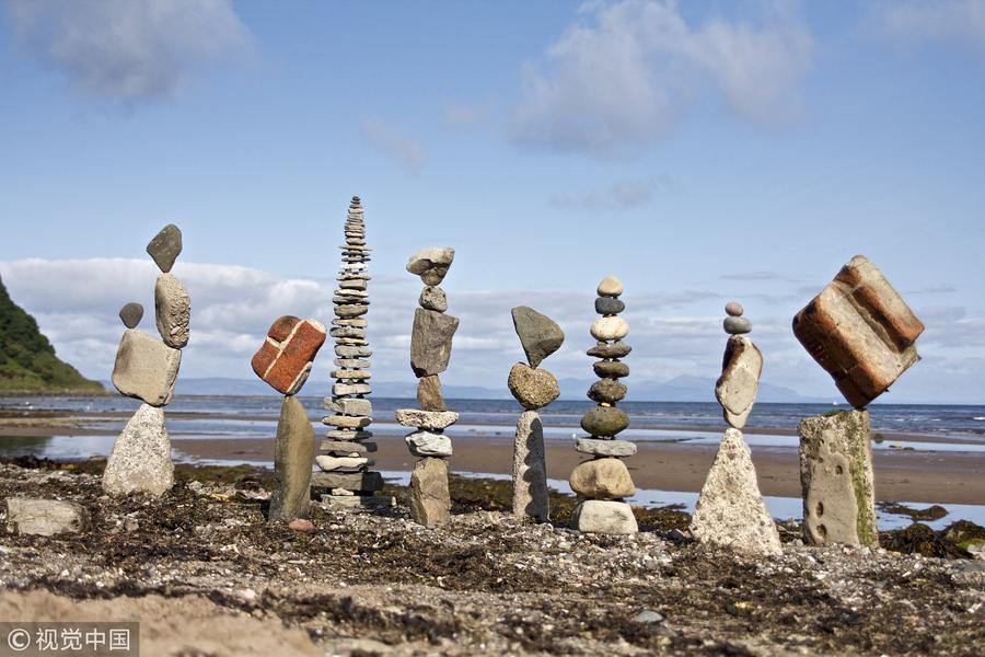 石块还能这样玩?艺术家制成超美艺术品