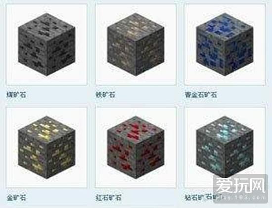 我的世界矿石的种类以及矿石的用途介绍